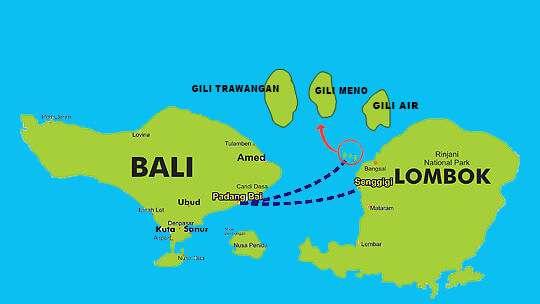 龙目岛地图